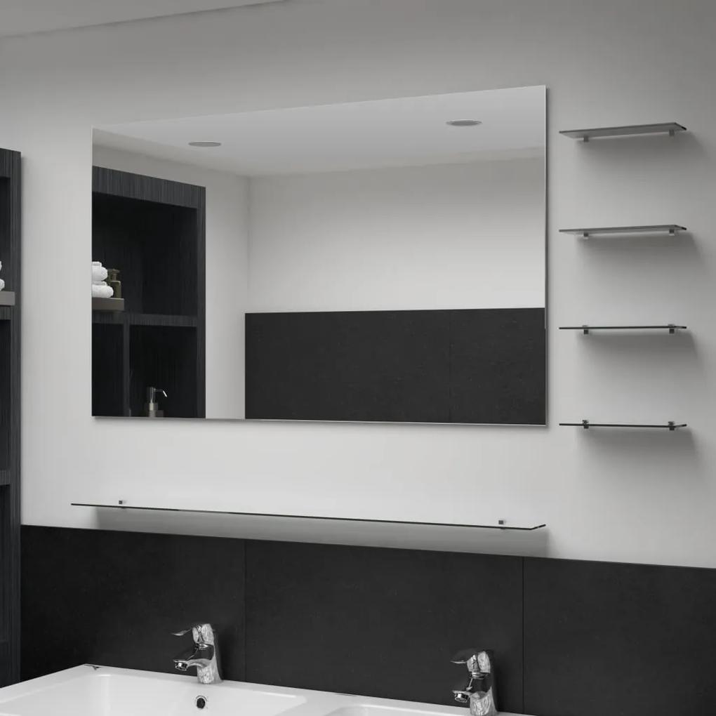 Wandspiegel Met 5 Schappen 100x60 Cm Zilverkleurig Biano
