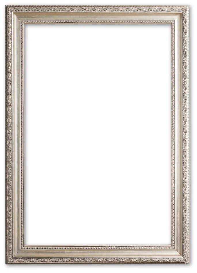 Barok Lijst 70x90 cm Zilver - Franklin