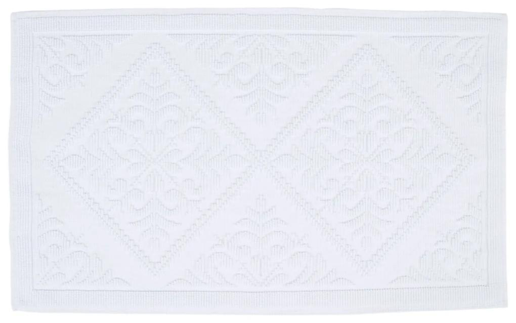 Badmat Differnz Domus Antislip 60x100 cm Katoen Wit
