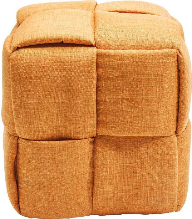 Ongekend Kare Design Woven Gevlochten Oranje Stoffen Poef | Biano QR-67