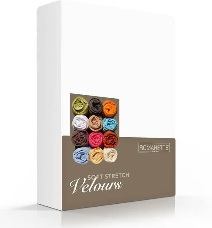 Romanette Luxe Hoeslaken Velours - Wit 80/100 x 200/220