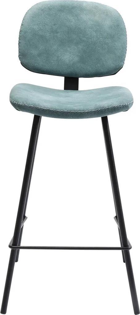 Kare Design Barber Barstoel Met Zwart Metaal Blauw