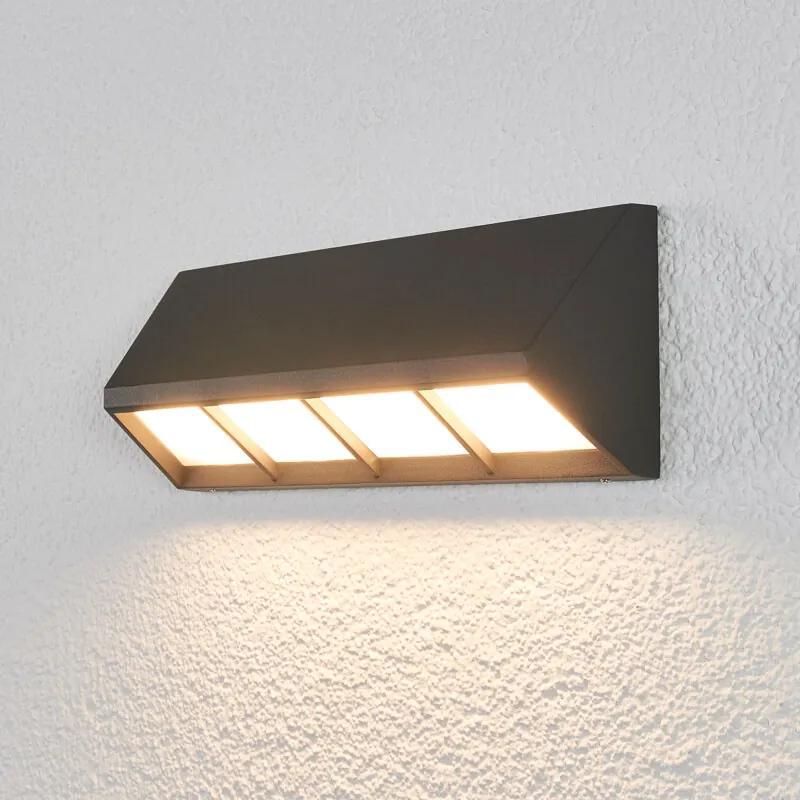 Cedrick - LED buiten wandlamp in donkergrijs - lampen-24