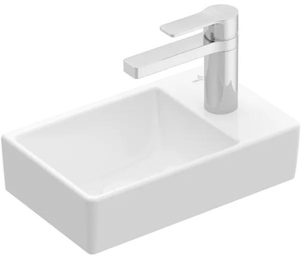 Villeroy & boch Avento fontein 1 kraangat rechts zonder overloop 36x22cm Ceramic+ stone white 43003lrw