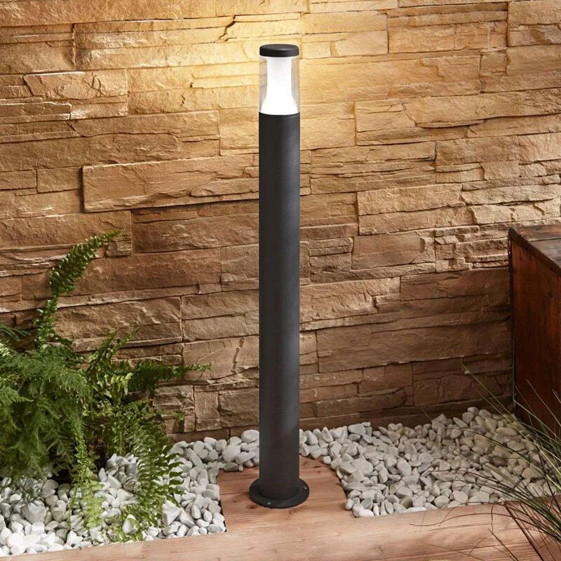 LED buitenwandlamp Amily, donkergrijs, 90 cm