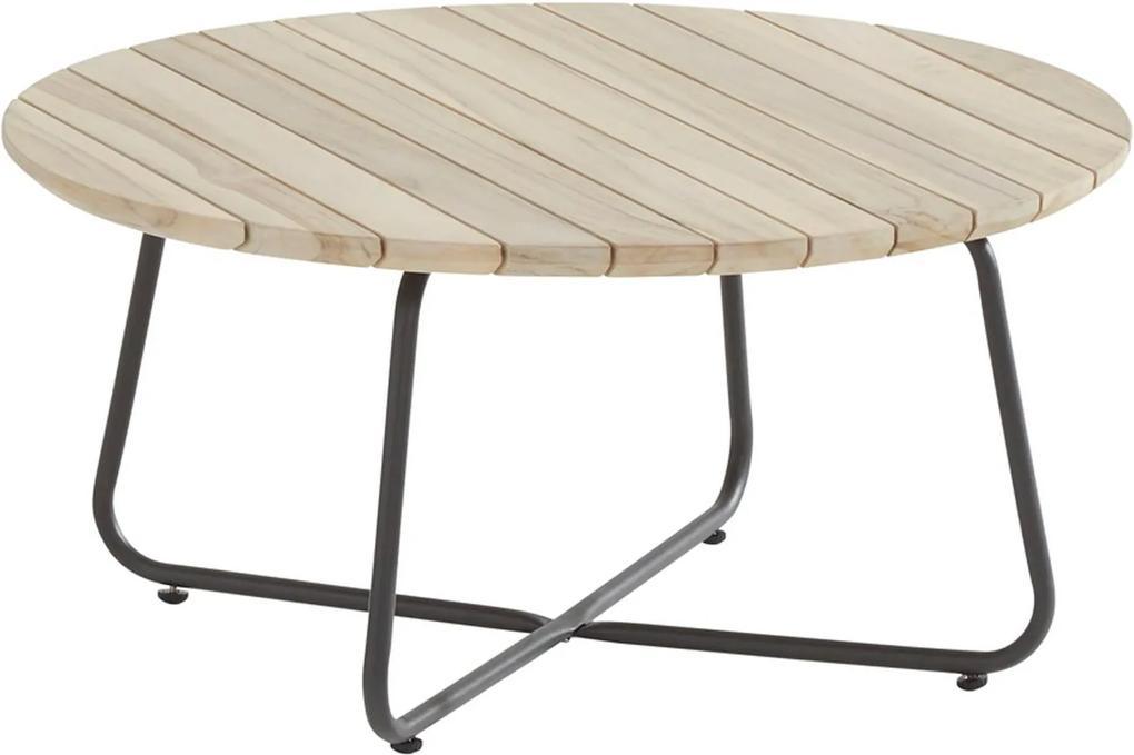 Axel coffee table teak round 73 cm (H 35 cm)