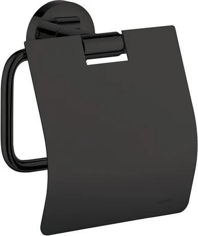 Aliseo Nexxus toiletrolhouder messing 13.8x13.2x5.6cm mat zwart 740038