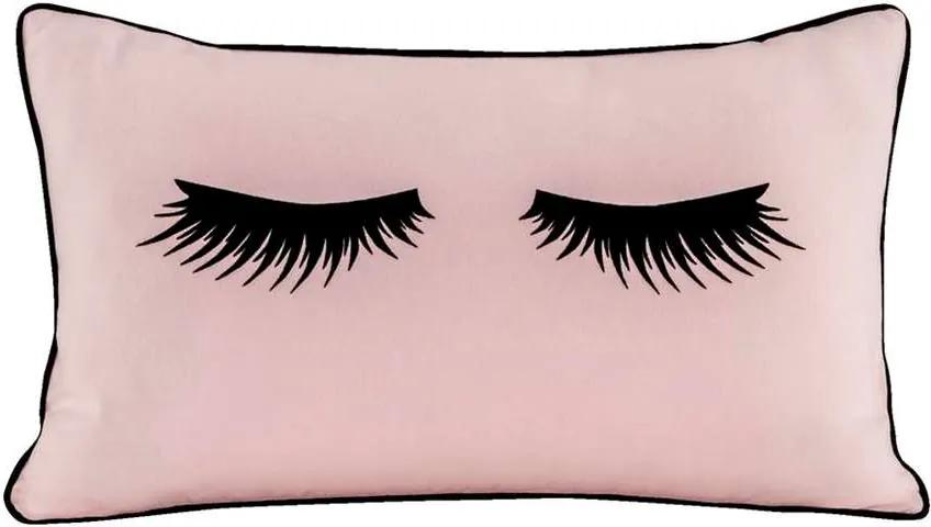Sierkussen Lashes - roze - 30x50 cm - Leen Bakker