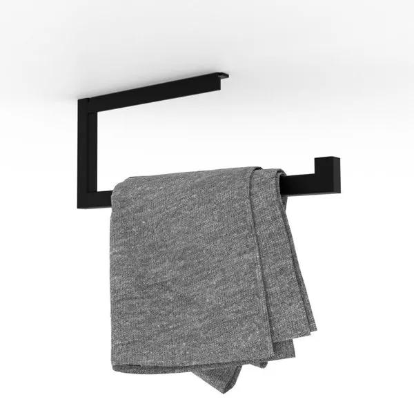 LoooX Wood handdoekhouder 35cm mat zwart WROLL35MZ