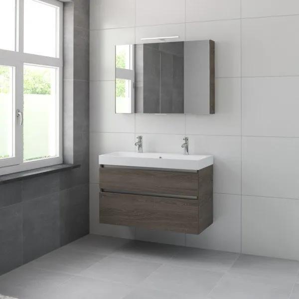 Bruynzeel Pinto badmeubelset 100x65.3x46cm met spiegelkast orlando eiken 223056k