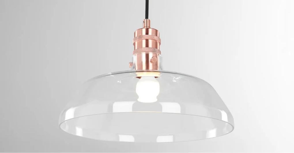 Utah hanglamp, koper en helder glas