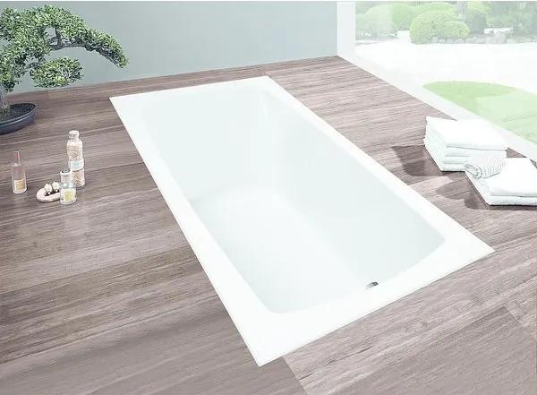 Hoesch Largo bad acryl rechthoekig 170x80x48cm wit 3708010