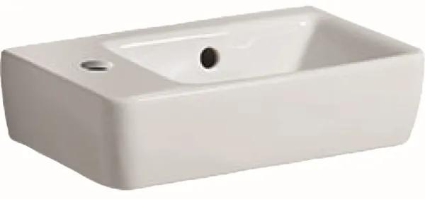 Geberit Renova Compact fontein compact met kraangat links met overloop 40x25x15cm wit 276240000
