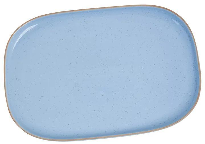 Bord organic - rechthoekig - blauw - 26,5x18 cm