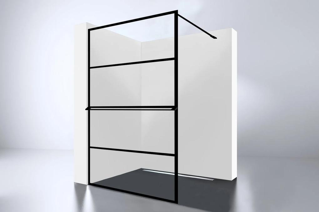 Best Design inloopdouche Noire 1200 screen 120 x 200 cm mat zwart