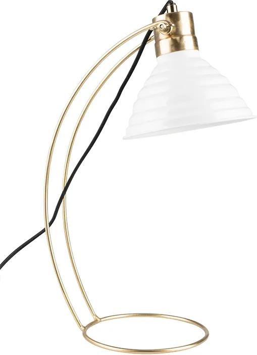 Bureaulamp Curly - wit