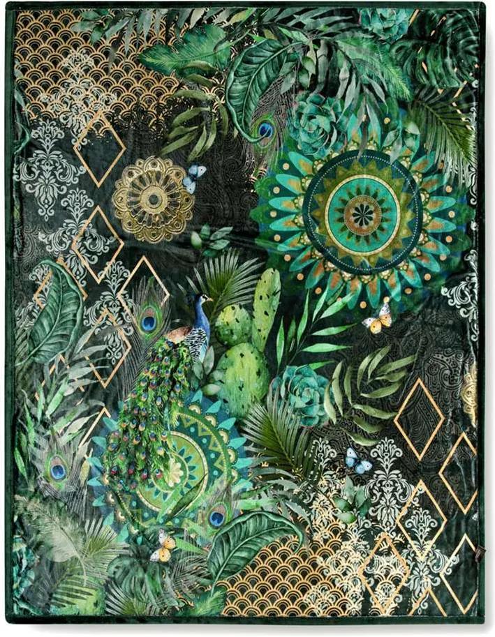 Hip plaid Botalia - groen - 130x160 cm - Leen Bakker