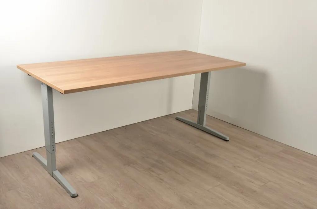 Mezzo bureau, bladkleur naar keuze, 180 x 80 cm, hoogte instelbaar onderstel