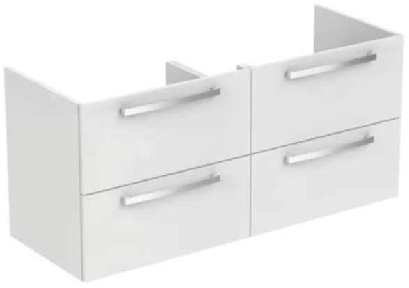 Ideal Standard Tiempo wastafelonderbouwkast met 4 laden 120x44x55cm t.b.voor dubbele wastafel E0534 wit E0539WG