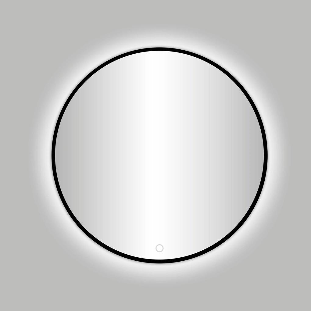 Best Design Nero Venetië ronde LED spiegel Ø 100 cm zwart