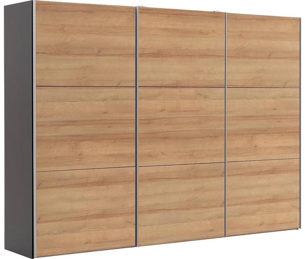 Goossens Kledingkast Easy Storage Sdk, 300 cm breed, 220 cm hoog, 3x 3 paneel schuifdeuren