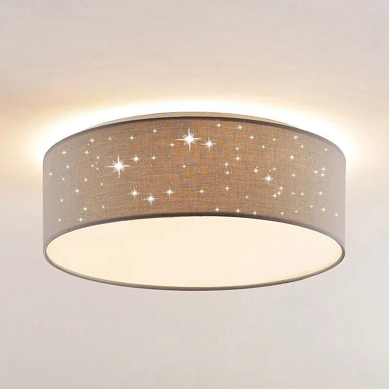 Ellamina LED plafondlamp, 40 cm, lichtgrijs - lampen-24