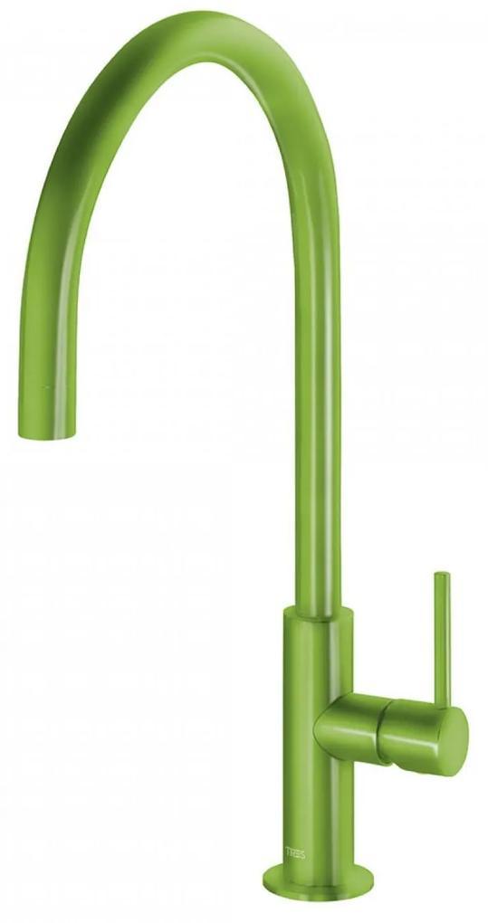 Keukenmengkraan Tres Study Colors 1-Hendel Uitloop Gebogen 26 cm Rond Groen