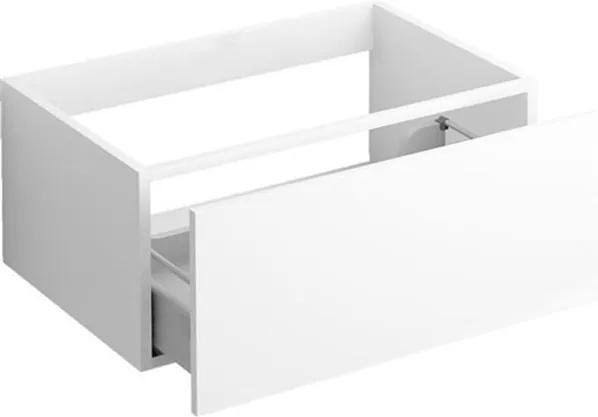 Ladekast Clou Hammock Hangend 70x50.3x30cm MDF Wit Greeploos Push-to-Open Lade
