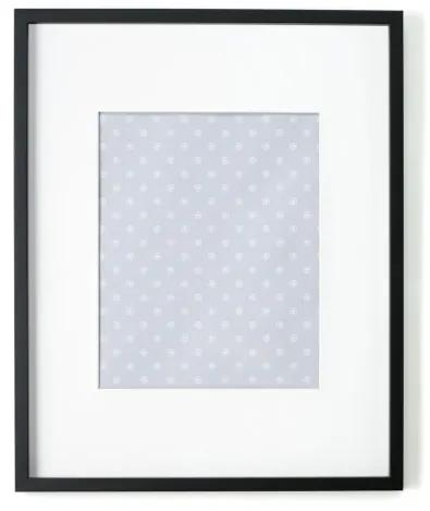 Portland fotolijst 40 x 50 cm, zwart met wit passe-partout 30 x 40 cm