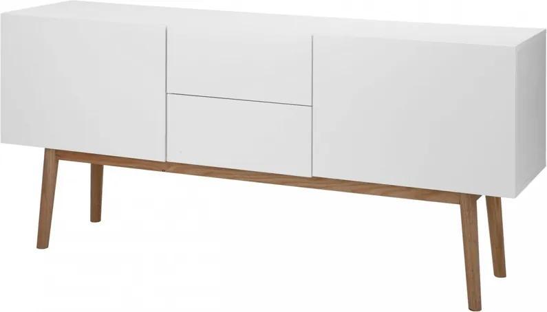 Lisomme Scandinavisch Dressoir Roos 150 Cm Wit Tv Meubel Sideboard Witte Kast Design Eikenhout Hoogglans Wit