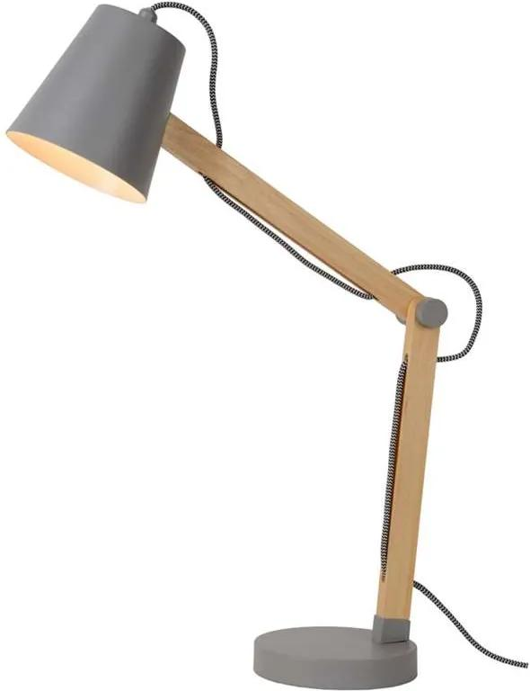 Lucide bureaulamp Tony - grijs - Leen Bakker