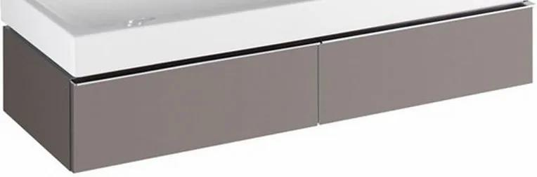 345 wastafelonderkast 120 cm met twee laden, platina grijs