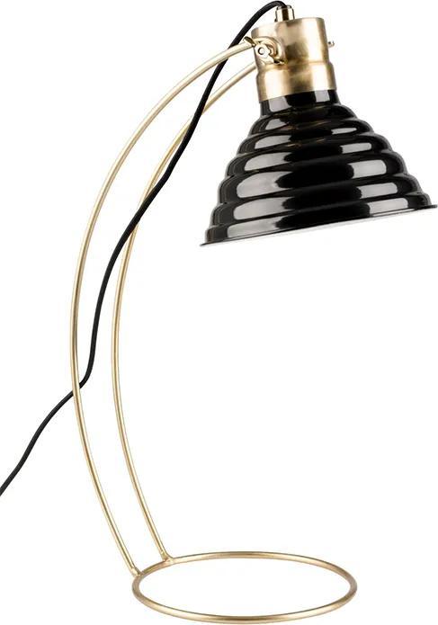 Bureaulamp Curly - zwart