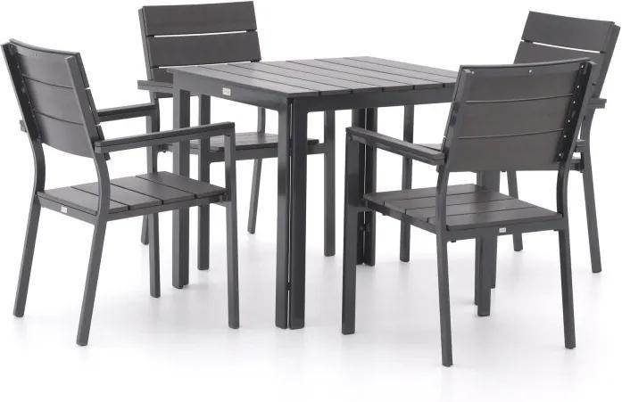 Bellagio Bravo 78cm dining tuinset 5-delig stapelbaar - Laagste prijsgarantie!