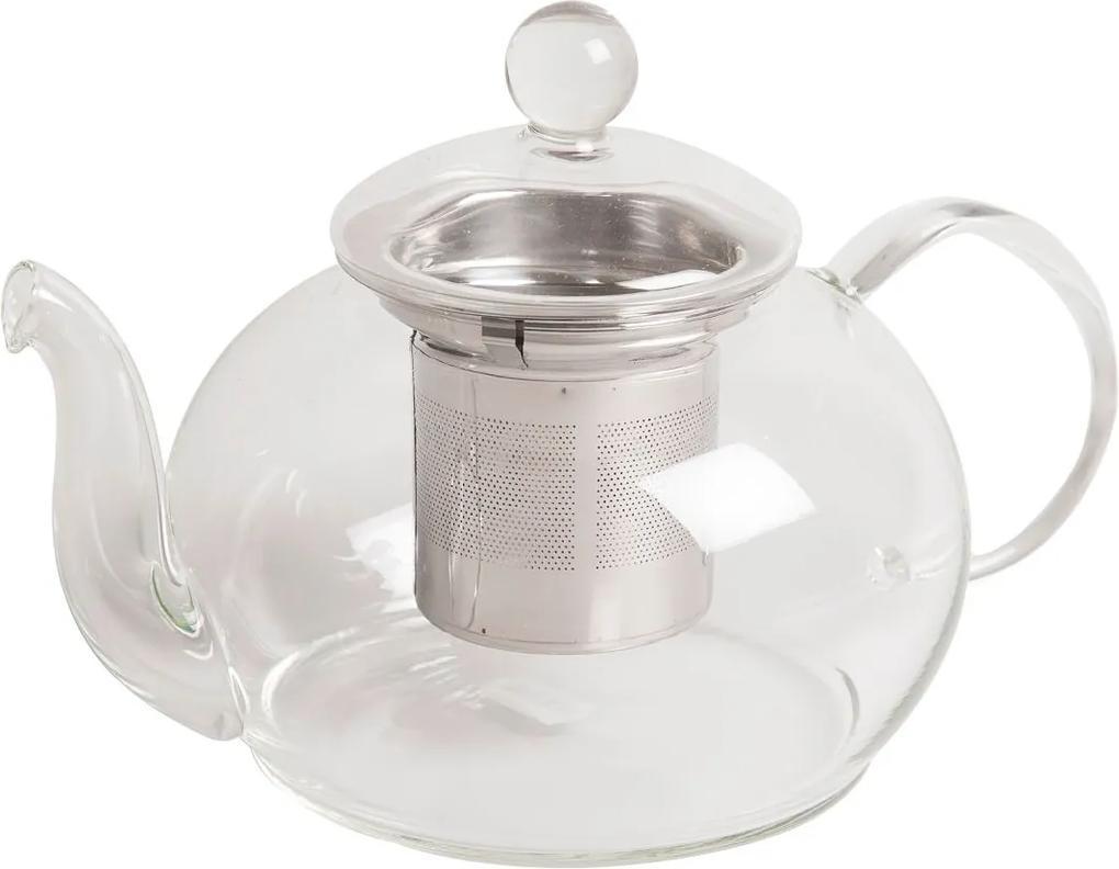 Theepot met roestvrij stalen theezeefje, glas, 800 ml