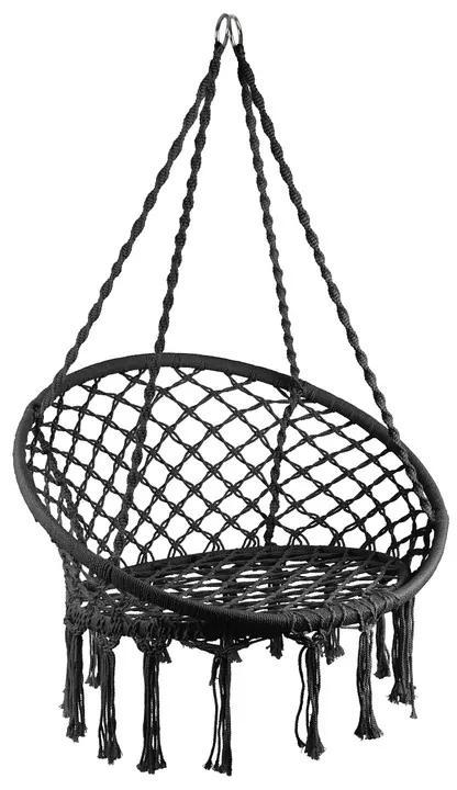 Hangstoel Knoet - zwart