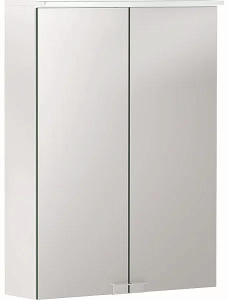 Geberit Option spiegelkast met verlichting 2 deuren 50x67,5cm wit 500.257.00.1