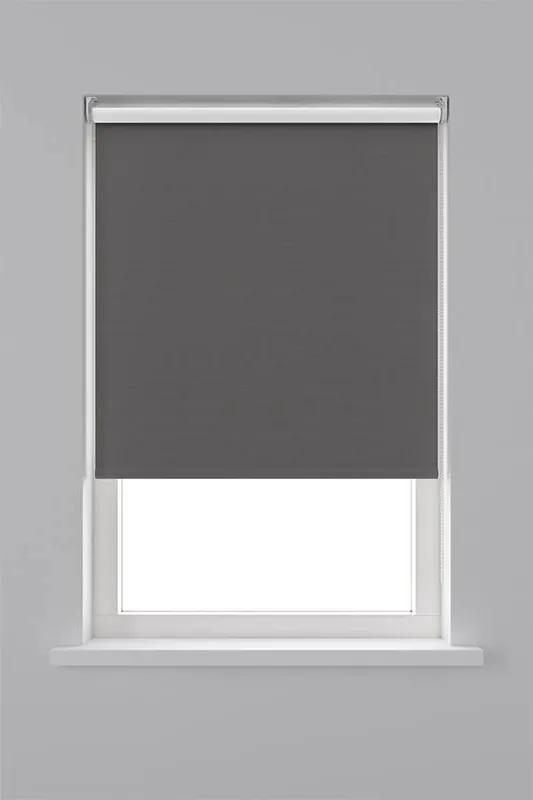 Decosol Rolgordijn Verduisterend Structuur - Antraciet 90 x 190 cm