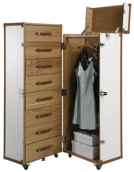 Kare Design Trunk Garderobekast Koffer Wit - 62.8x56x145cm.