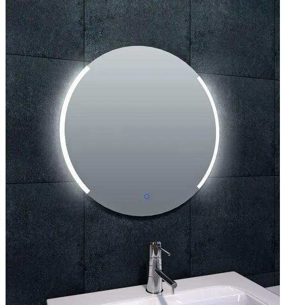 Wiesbaden Round spiegel 60cm met spiegelverwarming dimbare LEDverlichting IP44 aluminium 38.3795
