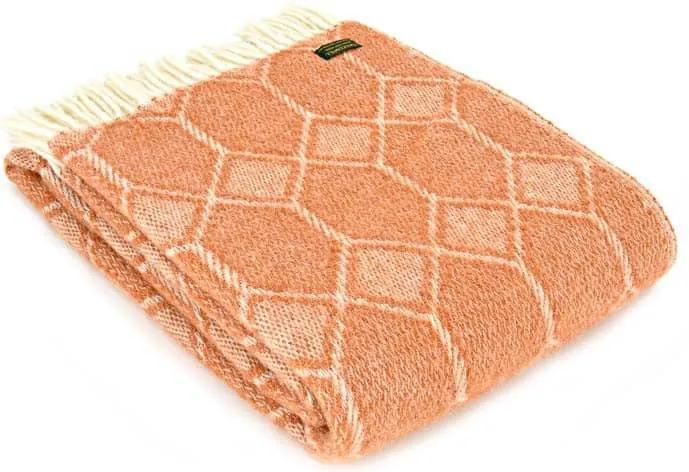 Plaid wol: oranje, churchpane