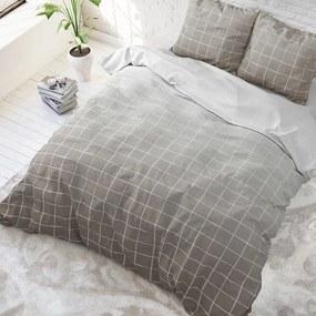 Sleeptime Elegance Royal Block - Taupe 1-persoons (140 x 220 cm + 1 kussensloop) Dekbedovertrek