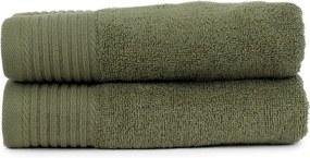 The One Towelling 2-PACK: Handdoek Basic - 50 x 100 cm - Olijfgroen