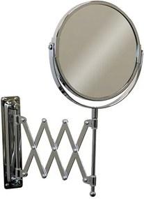 Cosmeticaspiegel Manola RVS 17x17cm Kantelbaar Normaal/Vergrotend Spiegelglas