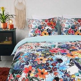 Dekbedovertrek Floral Watercolor 1-persoons (140x200/220 cm) - Katoen - Bloemen - - Ga naar Dekbed-Discounter.nl & Profiteer Nu