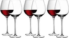 L.S.A. | Rode wijnglazen Lou diameter 10 cm x hoogte 27 cm transparant glazen glas  | NADUVI outlet