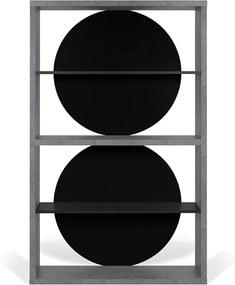 TemaHome Zero Open Boekenkast Betonlook - 115x37x185cm.