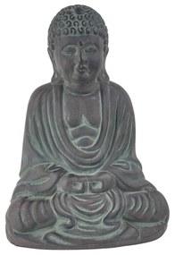 Zittende boeddha - donkergrijs - 30 cm