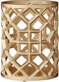 Lene Bjerre Design | Amina waxinelichthouder H20 cm. ø15.5 cm, h20 cm goud waxinelichthouders decoratie kaarsen & kandelaars | NADUVI outlet