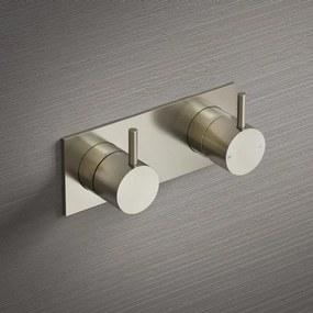 Hotbath Cobber douchemengkraan inbouw met omstel geborsteld nikkel HBCB029/CB029EXTGN